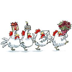 Partytime Chickens...   thestampbuzz : Product Detail