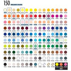 Prismacolor Premier 150 Colored Pencil Color Chart | Learn how to organize your colored pencils by color order on Cleverpedia