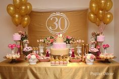53 Super Ideas birthday surprise ideas for girls simple 30th Party, 30th Birthday Parties, 70th Birthday, Birthday Celebration, Birthday Party Decorations For Adults, Birthday Ideas, Birthday Gifts For Boyfriend, Gold Party, Deco Table