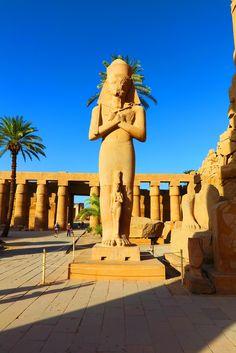 Statue of Ramses at Temple of Karnak #Egypt
