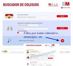 Buscador de centros educativos en la Comunidad de #Madrid Madrid, Community