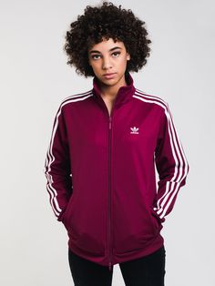 Womens Contemp Bb Tt - Ruby - Adidas jacket at Boathouse Adidas Zip Up, Boathouse, Clothing Websites, Sweater Hoodie, Adidas Women, Adidas Jacket, Zip Ups, Sweaters For Women, Hoodies