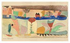 """Paul Klee said, """"a line is a dot that went for a walk.""""  Paul Klee's Park Landscape, 1920."""