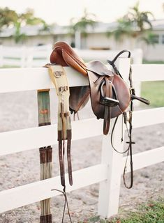 just something so beautiful about horse tack. (via dappled grey)