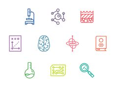 Wrapping up a science icon set that will be used in an upcoming advertising campaign. See more from MilesHerndon
