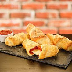 Pepperoni Roll-ups :) Yummm mini pizza easy for kids to eat