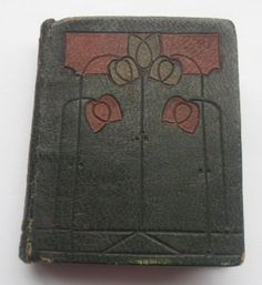 LOVELY ARTS & CRAFTS LEATHER BOUND MINIATURE BOOK RUBAIYT OF OMAR KHAYYAM 1903