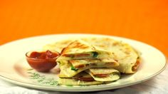 This recipe combines two faves, pizza and quesadillas. #back2school #afterschool #snack