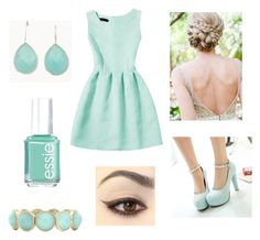 """Fancy Mint"" by irishdancer514 ❤ liked on Polyvore featuring Blue Candy Jewelry, Gizmal Boots, Essie and Mixit"