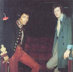 Jimi and Eric together. Clapton was paranoid about Hendrix as he felt overshadowed.  When JH died he nearly gave up his Gibsons and played the Fender Stratocaster.