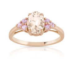 #BAGUE or 375 rose morganite et saphir rose #MATY #Bijoux - www.maty.com