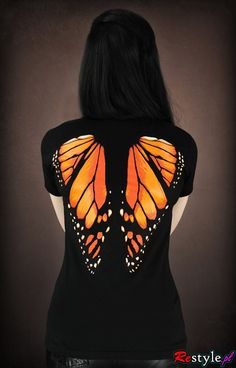 T-shirt Monarch Butterfly wings on the back | CLOTHING  T-shirts | Restyle.pl