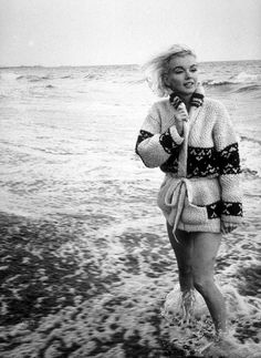 Vintage.  There's something about a beach photo in black and white that is just so timeless.