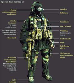 Модель бойца SBS, в исполнении игрушечной модели.