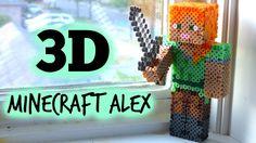 3D Perler Bead Minecraft Alex Figure (FULL TUTORIAL) - YouTube