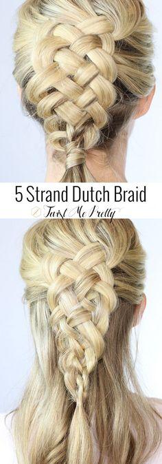 This girl makes learning this braid sooooo easy!  A 5 strand dutch braid on yourself- eeek!  Can't wait to wear it | Twist Me Pretty
