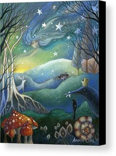 Yule Canvas Print featuring the painting Yule by Amanda Clark