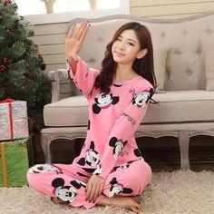 370a156a0 New Autumn Winter Women Pyjamas Thin Long Sleeve Pajamas Set Student  Tracksuit Tops Female Pyjamas Sets Night Suit Sleepwear