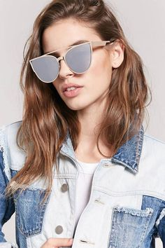 16af56ad7877 Forever 21. Cat Eye SunglassesMirrored ...
