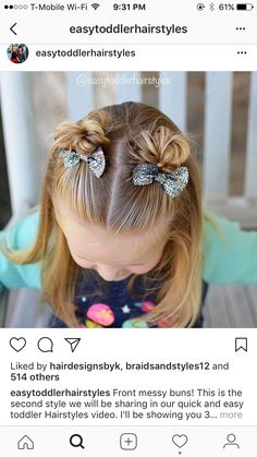 #littlegirlhairdos