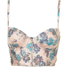 Tapestry Zip Bralet found on Polyvore, NEED
