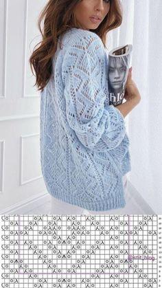 Lace Knitting Stitches, Lace Knitting Patterns, Knitting Designs, Vogue Knitting, Summer Knitting, Crochet Fashion, Crochet Clothes, Knit Crochet, Sweaters