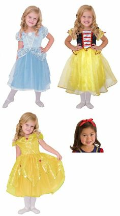 Amazon.com : Little Adventure Cinderella, Yellow Beauty, Snow White Princess Dress, Bow size 4-6 : Toy Activity Roleplay Sets : Toys & Games...