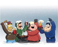 The guys from my favorite Fox Shows! Homer Simpson, Bob Belcher, Peter Griffith, and Stan Smith!