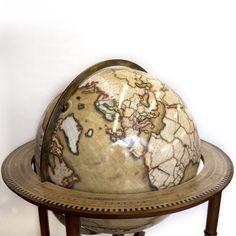 Floor standing terrestrial world globe, 80cm, Bellerby & Co Globemakers. Handcrafted & bespoke globes. Named the Galileo Cassini.