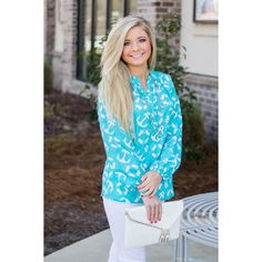 I Have it All Top- Turquoise