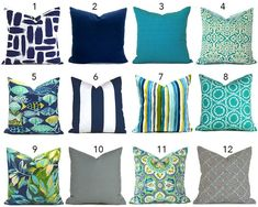 Outdoor Pillow Covers ANY SIZE Decorative Home Decor Navy Blue | Etsy Navy Blue Pillows, Turquoise Pillows, Blue Throw Pillows, Blue Pillow Covers, Outdoor Pillow Covers, Pillow Cover Design, Blue Throws, Thing 1, Pillow Texture