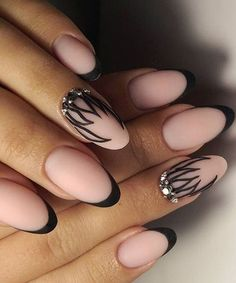 Most Loving Acrylic Black Prom Nail Art Design for Yor Big Day