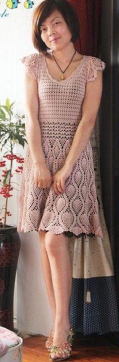 vestido de crochet de verano que hace punto