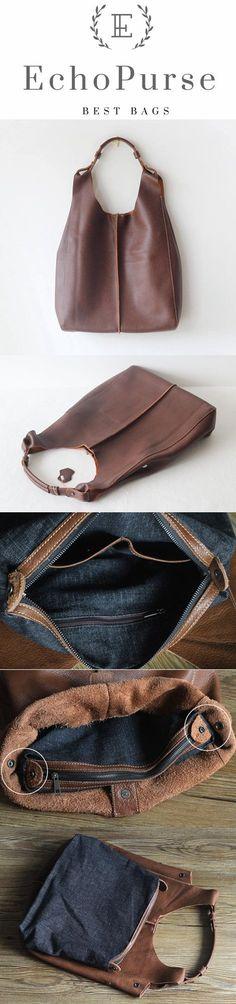 Handmade Vintage Full Grain Leather Tote Bag, Shoulder Bag, Handbag PPM102