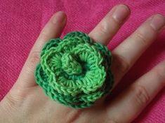 Horgolt gyűrű