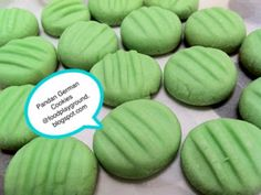 Food Playground: Melt in your mouth Pandan German Cookies