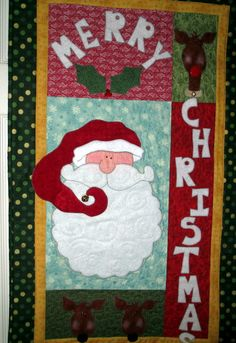 Holiday Wallhanging Applique Christmas Quilt by CountryStitching, $52.00