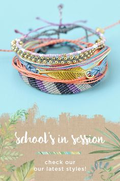 Get your wrists ready for back-to-school fashion! Discover styles and collections featuring hand-made bracelets from Costa Rica. Free shipping on all U.S. orders.