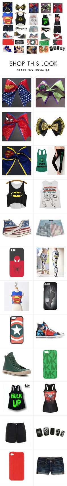 """super dates pick your date"" by lollie2142 ❤ liked on Polyvore featuring Converse, Marvel, Tinsel, Casetify, CellPowerCases, Michael Kors, Ally Fashion, Dsquared2 and American Eagle Outfitters"