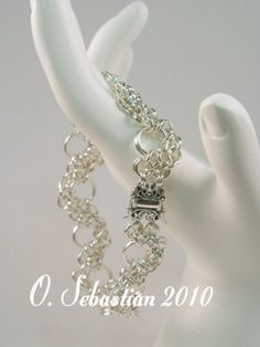 Sterling Silver Nexus Bracelet - 8 1/4 to 9 1/2 length | OSebastian - Jewelry on ArtFire