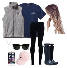 """""""Southern Prep"""" by lovejulia07 ❤ liked on Polyvore featuring Vineyard Vines, NIKE, Hunter, Patagonia, Ray-Ban, David Yurman, women's clothing, women, female and woman"""