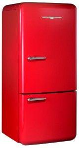 red fridge