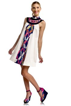 MAASAI DRESS dress by M'OYO ~Latest African Fashion, African Prints, African fashion styles, African clothing, Nigerian style, Ghanaian fashion, African women dresses, African Bags, African shoes, Nigerian fashion, Ankara, Kitenge, Aso okè, Kenté, brocade. ~DK