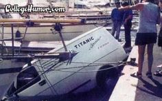 Sinking Boats Funny   Funny pictures Serves him right for naming his company after a boat ...