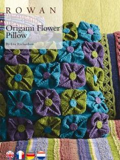 Origami Flower Pillow - Free Knitting Pattern from Rowan