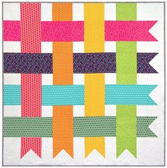 """Cute """"Simple Streamers"""" (free!) pattern from the Robert Kaufman Fabric Company"""