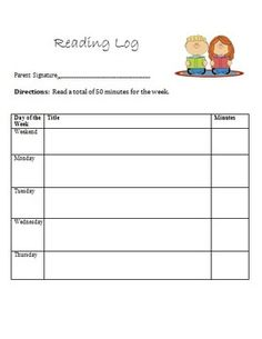 Animal Themed Monthly Reading Logs  Teaching First