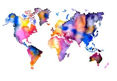 mapamundi de acuarela - Buscar con Google