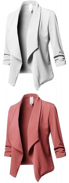 Elegant Solid Paneled Shawl Collar Winter Cony Hair Plus Size Blazer Fall Outfits, Casual Outfits, Cute Outfits, Fashion Outfits, Womens Fashion, Fashion 2018, Work Fashion, Fashion Trends, Plus Size Blazer