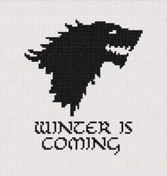 Game of Thrones Stark House sigil counted cross stitch printable PDF pattern    http://picturesfunnys.blogspot.com/
